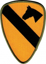 View Buying Options For The 1st Cavalry Division Cut-Out Iron-On Patch