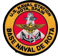 View Buying Options For The U.S. Naval Station Rota Spain Iron-On Patch