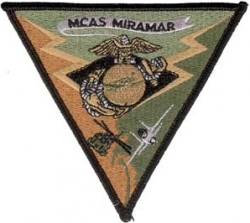 View Buying Options For The MCAS Miramar Subdued Triangle Iron-On Patch