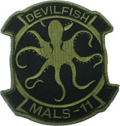 View Buying Options For The MALS-11 Devilfish Subdued 2-Piece (H&L) Velcro Attachment Patch