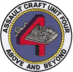 View Buying Options For The Assault Craft Unit Four Above and Beyond Iron-On Patch