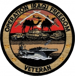 View Buying Options For The Operation Iraqi Freedom Veteran Iron-On Patch