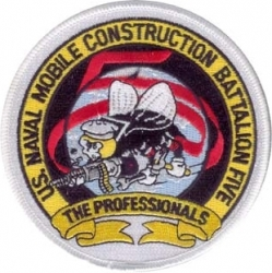View Buying Options For The U.S. Naval Mobile Construction Battalion Five The Professionals Iron-On Patch