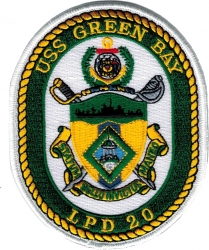 View Buying Options For The USS Green Bay LPD-20 Iron-On Patch