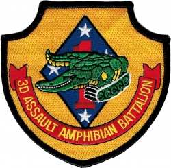 View Buying Options For The 3rd Assault Amphibian Battalion Iron-On Patch