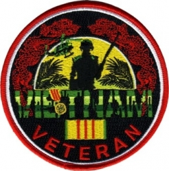 View Buying Options For The Vietnam Veteran Ribbon Dragon Round Iron-On Patch