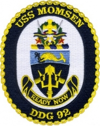 View Buying Options For The USS Momsen DDG-92 Iron-On Patch