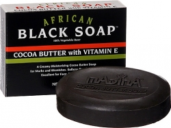 View Buying Options For The Madina Cocoa Butter African Black Soap with Vitamin E [Pre-Pack]