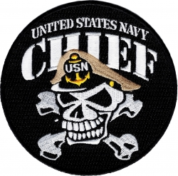 View Buying Options For The United States Navy Chief CPO Iron-On Patch