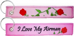 View Buying Options For The I Love My Airman Key Ring Pull Tag Embroidered Keychain