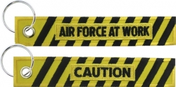 View Buying Options For The Caution Air Force At Work Key Ring Tag Keychain