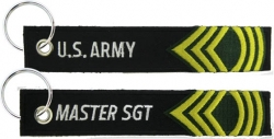 View Buying Options For The U.S. Army Master Sergeant Key Ring Pull Tag Embroidered Keychain