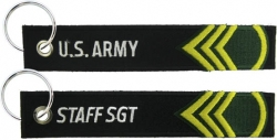 View Buying Options For The U.S. Army Staff Sergeant Key Ring Pull Tag Embroidered Keychain