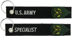 View Buying Options For The US Army Specialist Key Ring Pull Tag Embroidered Keychain