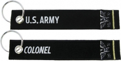 View Buying Options For The US Army Colonel Key Ring Pull Tag Embroidered Keychain