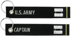 View Buying Options For The US Army Captain Key Ring Pull Tag Embroidered Keychain