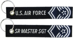 View Buying Options For The U.S. Air Force Senior Master Sergeant Key Ring Pull Tag Embroidered Keychain