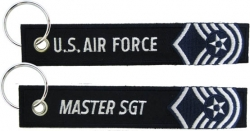 View Buying Options For The U.S. Air Force Master Sergeant Key Ring Pull Tag Embroidered Keychain