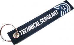 View Buying Options For The U.S. Air Force Technical Sergeant Key Ring Pull Tag Embroidered Keychain