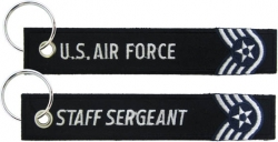 View Buying Options For The U.S. Air Force Staff Sergeant Key Ring Pull Tag Keychain