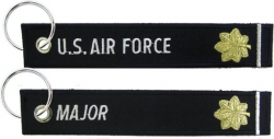 View Buying Options For The US Air Force Major Key Ring Tag Keychain