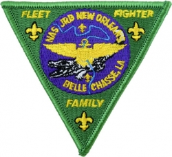 View Buying Options For The N.A.S. J.R.B. New Orleans Fleet Fighter Family Triangle Iron-On Patch