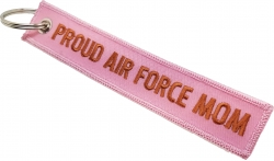 View Buying Options For The Proud Air Force Mom Key Ring Pull Tag Embroidered Keychain
