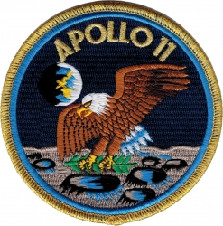 View Buying Options For The Apollo 11 First Lunar Landing Round Iron-On Patch