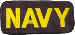 View Buying Options For The Navy Bar Iron-On Patch