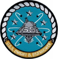 View Buying Options For The USS Eisenhower CVN-69 Iron-On Patch
