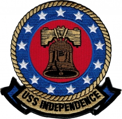 View Buying Options For The USS Independence CV-62 Iron-On Patch