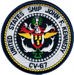 View Buying Options For The USS John F. Kennedy CV-67 Iron-On Patch