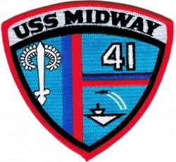 View Buying Options For The USS Midway CV-41 Iron-On Patch