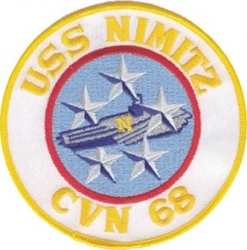 View Buying Options For The USS Nimitz CVN-68 Iron-On Patch