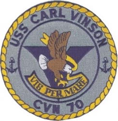 View Buying Options For The USS Carl Vinson CVN-70 Iron-On Patch
