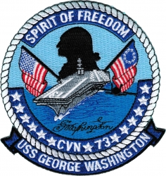 View Buying Options For The USS George Washington CVN-73 Iron-On Patch