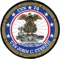 View Buying Options For The USS John C. Stennis CVN-74 Iron-On Patch