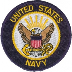 View Buying Options For The United States Navy Logo Round Iron-On Patch