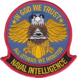 View Buying Options For The Naval Intelligence In God We Trust Iron-On Patch