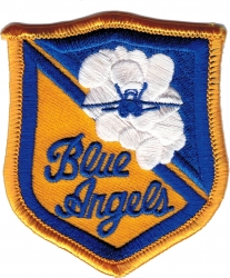 View Buying Options For The Blue Angels Script Iron-On Patch