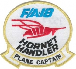View Buying Options For The F/A-18 Hornet Handler Plane Captain Iron-On Patch