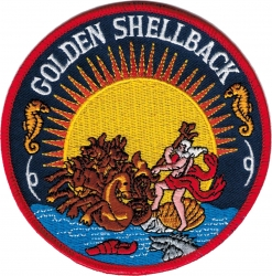 View Buying Options For The Golden Shellback Iron-On Patch