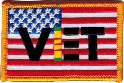 View Buying Options For The American Flag with Vietnam Vet Ribbon Iron-On Patch