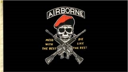 View Buying Options For The Airborne Mess with The Best Die Like The Rest Large Flag