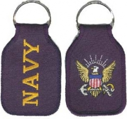 View Buying Options For The Navy Logo Key Ring Tab Keychain