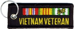 View Buying Options For The Vietnam Veteran Ribbon Tag Key Ring Embroidered Keychain