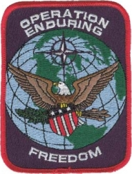 View Buying Options For The Operation Enduring Freedom Rectangular Iron-On Patch