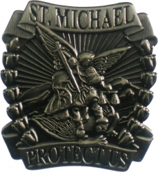 View Buying Options For The St. Michael Protect Us Lapel Pin