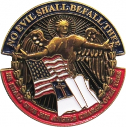 View Buying Options For The No Evil Shall Befall Thee Lapel Pin