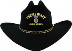 View Buying Options For The Purple Heart Combat Wounded Patch Patch Felt Cowboy Western Mens Hat